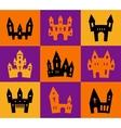 Print Halloween silhouettes vector image