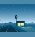road diner at night scene vector image