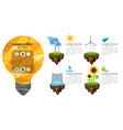the energy infographic modern infographic vector image