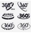 360 Degrees View Icon vector image