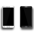 a mobile phones black and white eps10 vector image vector image