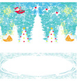 Abstract Christmas card with Santa Claus and vector image vector image