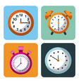 alarm clock stopwatch time management business vector image vector image
