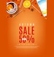 autumn sale orange poster vector image vector image