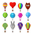 balloon cartoon air-balloon or aerostat vector image vector image