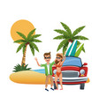 beach and friends cartoons vector image