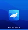 bird icon design template vector image vector image