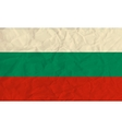 Bulgaria paper flag vector image vector image