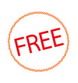 button sign free icon vector image vector image