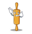call me rolling pin character cartoon vector image vector image