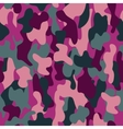 Camouflage seamless pattern in a pink crimson and vector image vector image