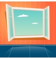 Cartoon Open Window Design Template Retro vector image vector image