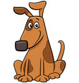 cartoon spotted dog pet animal character vector image vector image