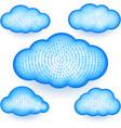 cloud storage virtual digital binary information vector image