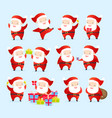 collection of christmas santa vector image vector image