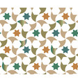 color geometric arabic texture for cloth vector image