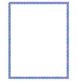colored frame with square dots vector image vector image