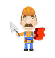 construction workers team vector image