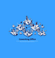 coworking office isometric landing page teamwork vector image vector image