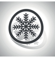 Curved cold sign icon vector image