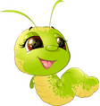 cute insect caterpillar vector image vector image