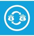 Dollar-euro exchange sign icon vector image vector image