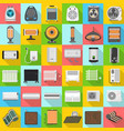 electric heater icon set flat style vector image vector image