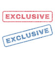 exclusive textile stamps vector image vector image
