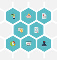 flat icons deadline duty mark and other vector image vector image