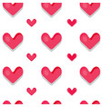 funny seamless pattern with hearts vector image