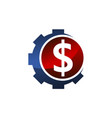 gear money logo design template vector image