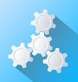 Gears Infographics Flat design vector image vector image