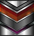 geometric elegant metallic background vector image vector image