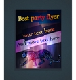 glowing flyer for a party vector image vector image