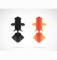 goldfish design on white background fish icon vector image