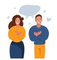 grateful people saying thank you man and woman vector image