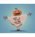 halloween of decorative scarecrow with head vector image vector image
