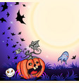 halloween party background vector image vector image