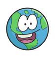 happy planet earth cartoon vector image vector image