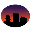 houses silhouettes vector image vector image
