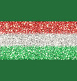 hungary sparkling flag vector image