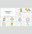 large bundle of minimal infographic design vector image vector image