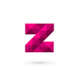 Letter Z mosaic logo icon design template elements vector image