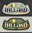 logo for ireland vector image