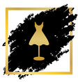 mannequin with dress sign golden icon at vector image vector image
