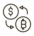 money dollar bitcoin exchange financial business vector image