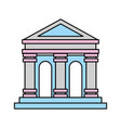 museum building isolated icon vector image
