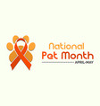 national pet month observed on annual calendar of vector image vector image
