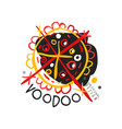 original abstract colorful voodoo magic logo vector image vector image