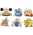 overweight zodiac vector image vector image
